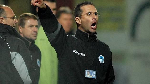 NAPOSLEDY. Jako hlavní trenér vedl Michal Zach Liberec naposledy proti Kladnu, se kterým jen remizoval.