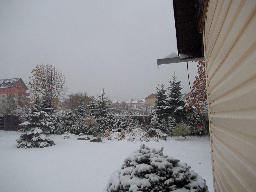 Sněhová nadílka v Liberci - Hanychově.