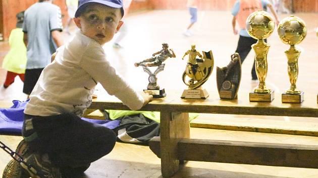 FOTBALOVÝ TURNAJ SE POVEDL. Kluci si zahráli a odnesli si domů poháry a medaile.
