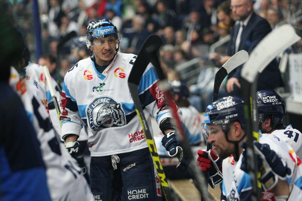 1. finále hokejové extraligy mezi HC Bílí Tygři Liberec a HC Oceláři Třinec