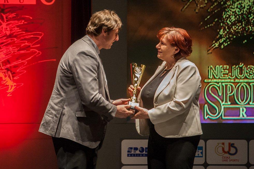 Vyhlášení ankety Nejúspěšnější sportovec Libereckého kraje za rok 2016 proběhlo 4. dubna v libereckém Divadle F. X. Šaldy. Na snímku Gabriela Soukalová.