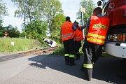 Nehoda dodávky a osobního vlaku v Liberci