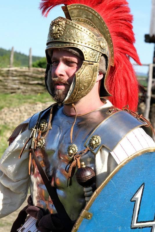 Na dvorci Curia Vitkov se konal antický festival.