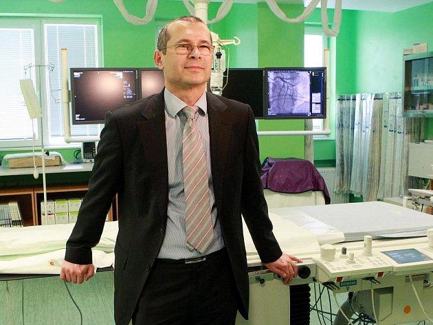 Přednosta Kardiocentra Krajské nemocnice Liberec MUDr. Rostislav Polášek.