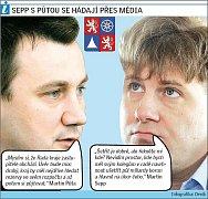 Půta a Sepp se hádají přes média.
