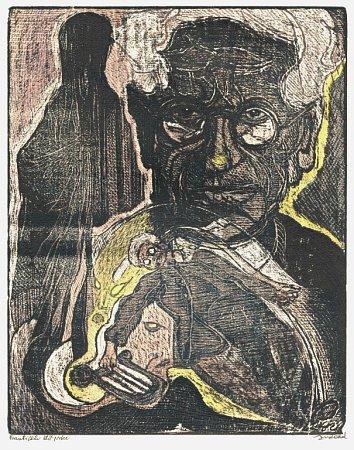 GRAFIKA Josefa Váchala je dílem měsíce vOblastní galerii vLiberci.