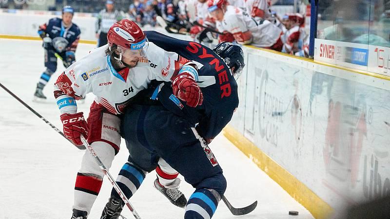 2. zápas čtvrtfinále Bílí Tygři Liberec – Mountfield Hradec Králové