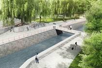 Liberecká náplavka má vzniknout během následujících let v dolním centru  města nedaleko Krajského úřadu, bude se na ní podílet kraj i město.