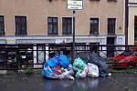 Odpadky v Liberci.