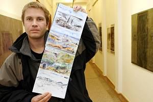 Grafický kabinet galerie zaplnily nyní grafiky Jana Vičara.