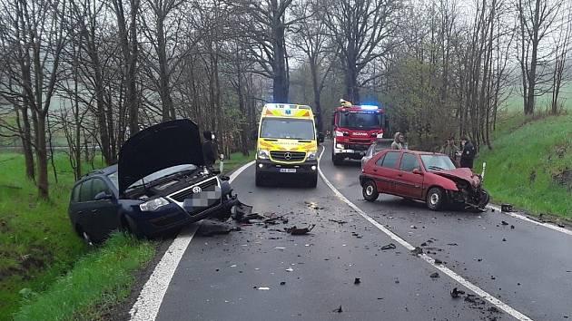 Dopravní nehoda u Mníšku.
