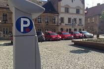 Parkovací automat v Liberci.