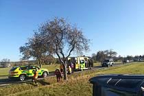 K havárii došlo nasilnici mezi Frýdlantem a Hajništěm nedaleko železničního přejezdu před obcí Hajniště.