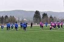 Fotbalisté Liberce na prvním tréninku v zimní přípravě.