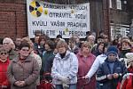 Také koncem ledna 2008 přišly stovky lidí vyjádřit svůj nesouhlas s těžbou uranu.