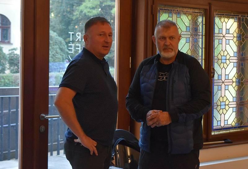 Volební štáb SPOLU. Petr Beitl (vlevo) a Dan Ramzer.