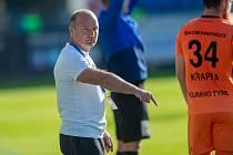 Trenér Slovanu Liberec Pavel Hoftych při utkání s Mladou Boleslaví.