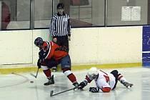 Aktuální kolo v Krajské hokejové lize mužů bylo v režii domácích týmů. Ilustrační foto.