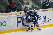 Utkání 46. kola WSM ligy ledního hokeje se odehrálo 3. února v liberecké Home Credit areně. Utkaly se celky HC Benátky nad Jizerou a Rytíři Kladno. Na snímku vpravo Petr Štindl.