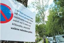 Situaci s parkováním vyřešili obyvatelé Alšovy ulice po svém.
