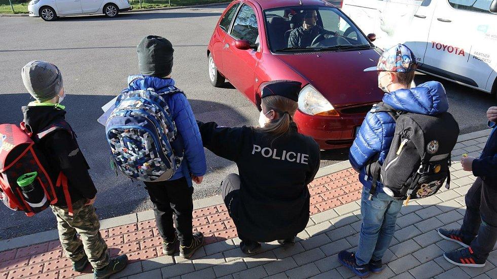 Policisté v Liberci radí dětem, jak se chovat na silnici