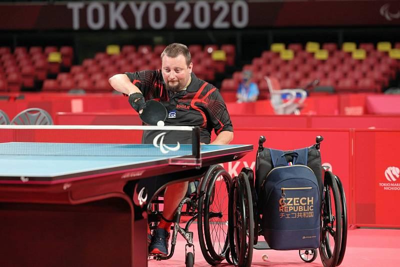 Jiří Suchánek se v Tokiu dostal mezi jednotlivci do čtvrtfinále. V týmové hře ale slavil bronz.