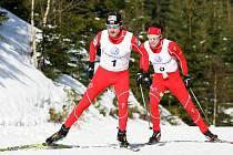 DVA NEJLEPŠÍ. Vlevo Jiří Magál, vpravo Aleš Razým, oba závodníci Dukly Liberec.