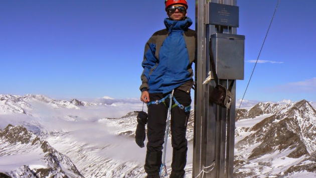 Vojta Motl jako horolezec.