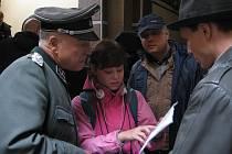 Natáčení hraného dokumentu o ruských agentech. Liberecká radnice