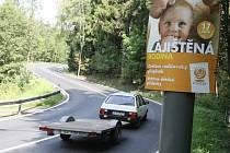 Jedním z prvních míst, kde se nelegální předvolební plakáty ČSSD objevily je Zelené Údolí v Jablonci nad Nisou.