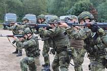 Střelecký nácvik.