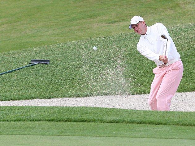 Z turnaje Ypsilon Golf Challenge by Alex Cejka ve Fojtce. Na snímku Jakub Stanislav.