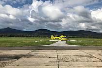 Heliport na libereckém letišti.