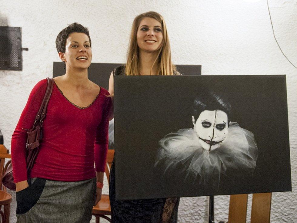 VERNISÁŽ. Obrazy fotografky Silvie Lintimerové, tvořící výstavu jménem Butterfly – aneb kdokoliv může vypadat jako cokoliv.