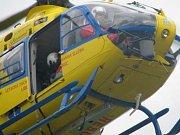 Vrtulník záchranné služby.