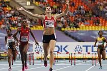 ZUZANA HEJNOVÁ dobíhá do cíle finále mistrovství světa v Moskvě