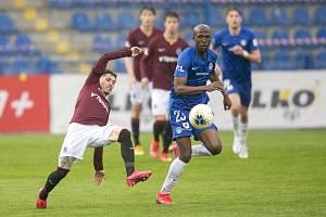 Momentka z utkání FC Slovan Liberec - AC Sparta Praha.