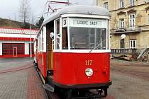 Historická tramvaj. Ilustrační foto.