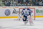 Utkání 23. kola Tipsport extraligy ledního hokeje se odehrálo 19. listopadu v liberecké Home Credit areně. Utkaly se celky Bílí Tygři Liberec a HC Kometa Brno. Na snímku je brnkář Marek Čiliak.