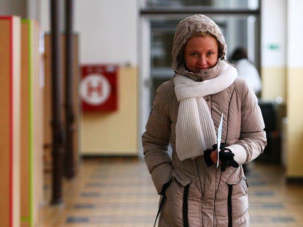 Druhý den přímých voleb hlavy státu probíhalo ina základní škole vBroumovské ulici vLiberci