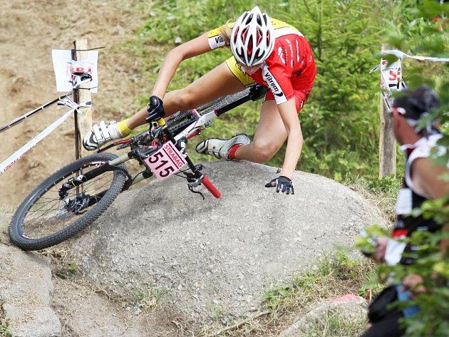 BEDŘICHOV HOSTIL BIKERY na horských kolech při jejich mistrovství republiky.