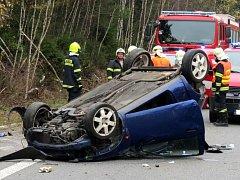 Ilustrační. Dopravní nehoda. Havárie. Hasiči.
