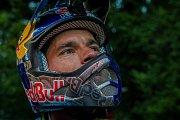 Finále závodu světové série horských kol ve fourcrossu JBC 4X Revelations proběhlo 14. července v bike parku Dobrý Voda v Jablonci nad Nisou. Na snímku je biker Tomáš Slavík.