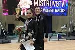 Taneční pár Jiří Kejzar a Barbora Košková zLiberce obhájili titul vicemistra v10ti tancích.
