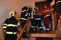 Požár v panelovém domě v Liberci.