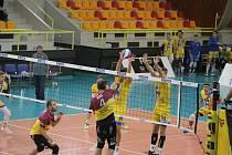 Volejbalová extraliga, ve které Dukla Liberec porazila Ústí nad Labem 3:0.