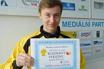 ROZHODČÍ PODZIMU. Devatenáctiletý Marek Šrajbr.