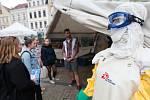 Výstava Lékařů bez hranic na libereckém náměstí Dr. E. Beneše.