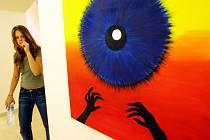 Svůj obrázek vystavila na výstavě k 90. narozeninám školy v liberecké Galerii U Rytíře také studentka čtvrtého ročníku gymnázia Veronika Němcová.