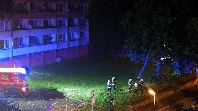 Zásah libereckých hasičů v noci na 14. července